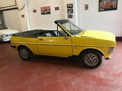 1979 Ford Fiesta Mk1 Fly Convertible Barn Find