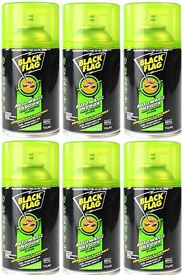 6 x Black Flag Automatic Indoor Insect Control System Refill 152g 100% Brand New