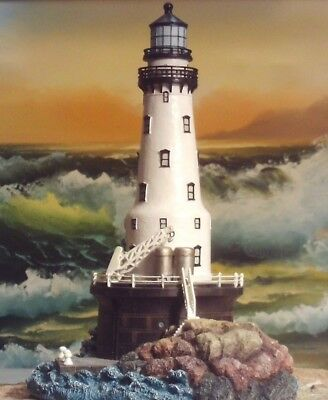 """Lighthouse  """"Rock of Ages"""" Light - Michigan - Harbour Lights 2002"""