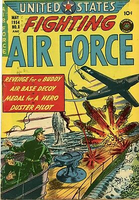 US Fighting Air Force #8 Comic Book FN- 5.5 Superior 1954 See My Store
