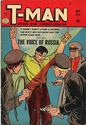 T-Man #11 Comic Book VG+ 4.5 Comic Magazines 1953 See My Store