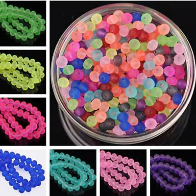 Wholesale 6mm Charm Jelly Like Faceted Rondelle Crystal Glass Spacer Loose Beads