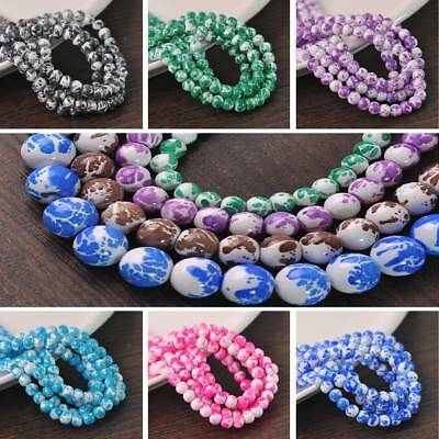 Wholesale Crystal Glass Loose Round Spacer Beads 6/8/10/12mm Jewelry Findings