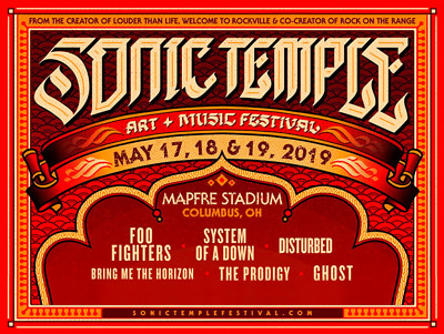 2019 Sonic Temple Tickets - General Admission 3-DAY STADIUM GA Weekend Wristband