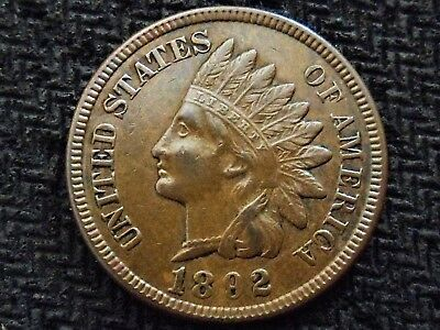 A 1892 Indian Head Nice! Full Liberty!! Diamonds!!!
