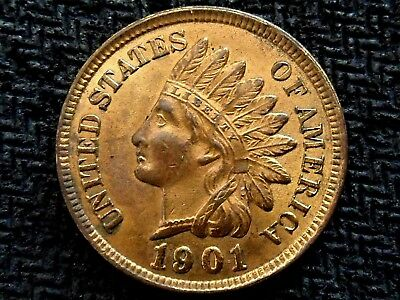 A 1901 Indian Head Very Nice Four Diamond UNC! WOW!!