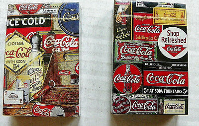 """(Lot Of 2) """"coca-Cola Collectable Items"""" Design Set Of Playing Cards - Unopened"""
