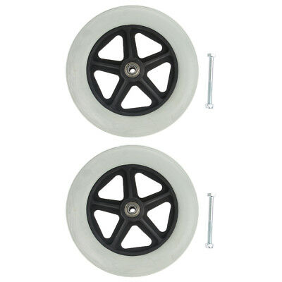 """2 PCS 8""""Solid Tyre Front Caster Walking Aids Wheelchairs Replacement Wheel"""