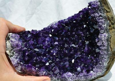 "8817 Purple Amethyst Cluster Geode Cathedral URUGUAYAN 7.5"" Free Standing 190mm"