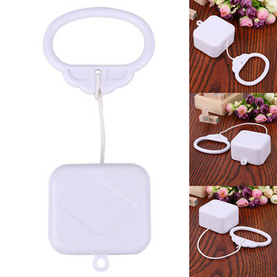 Pull String Cord Music Box White Baby Infant Kids Bed Bell Rattle Toy Gift White