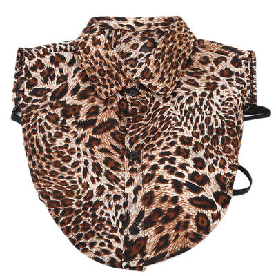 Female Leopard Print Detachable Collar Blouse Fit Clothing Accessories B