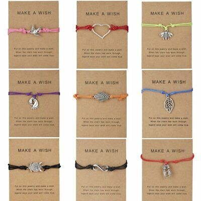 Wish String Handmade Bracelet Tibetan Charm Friendship Best Friends Gift Card