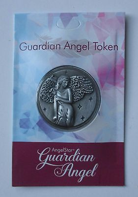 x GUARDIAN ANGEL feather POCKET TOKEN CHARM with wings of angels memorial