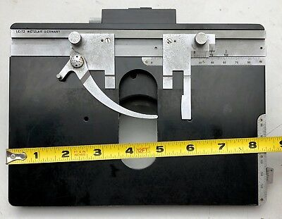 Leitz Orthoplan Microscope Part Large Square Mechanical Stage/Condenser holder