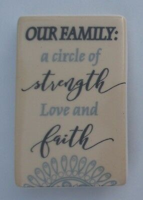 Our Family Is A Circle Of Strength And Love Tin Plaque Wall Hanging