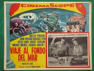 VOYAGE TO THE BOTTOM OF THE SEA Sci-Fi BEAUTIFUL ART SPANISH MEXICAN LOBBY CARD