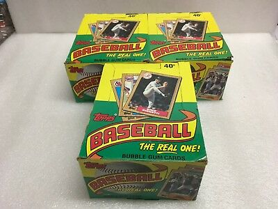 1987 Topps Baseball 3 Box Lot