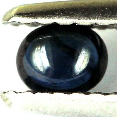 #0.28 cts. 4 x 3.3 mm.GENUINE BLUE SAPPHIRE OVAL CABOCHON MADAGASCAR
