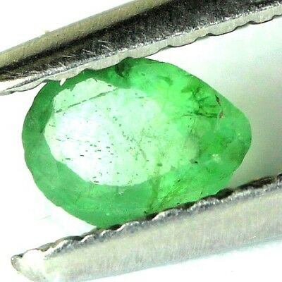 #0.31 cts. 5 x 3.7 mm. GENUINE GREEN EMERALD PEAR ZAMBIAN