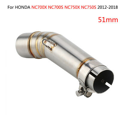 Motorcycle Exhaust Middle Pipe Link for Honda NC700X NC700S NC750X NC750S 12-18