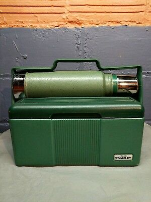 Vintage Aladdin Stanley Thermos and Cooler Insulated Lunchbox Locking Handle