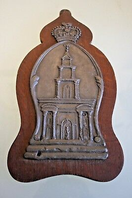 Royal Exchange Lead Fire Insurance Plaque  8 1/2'' (22cm) Tall
