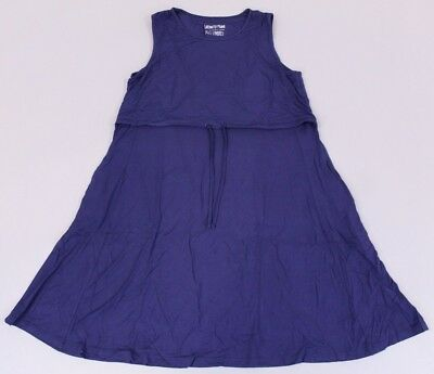 Latched Mama Women's Nursing Drawstring Tank Dress 2.0 KB8 Navy Size XL