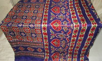 Violet Red Pure Silk 4 yd Vintage Antique Sari Saree Smart Choice wrap US #9EDV0