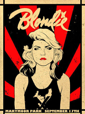 Blondie concert poster print  A4 Size