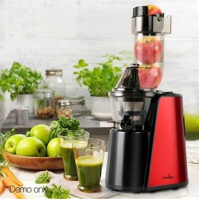 New Devanti Cold Press Slow Juicer Whole Fruit Stainless Steel Processor Mixer