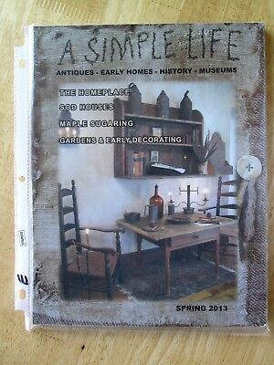 primitive country early homes SPRING issue  A SIMPLE LIFE MAGAZINE  2013  (e)