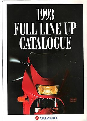 Suzuki RF600 1993 Range UK brochure open out full page poster