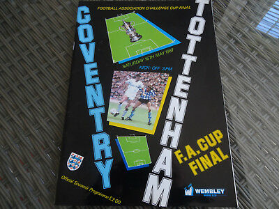 coventry v tottenham hotspur - fa cup final - 16 may 1987