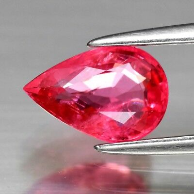 CERTIFICATE Inc.*1.21ct 8x5.5mm Pear Natural Purple Pink Spinel