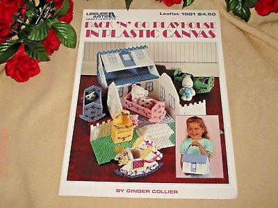 Pack N Go Playhouse Plastic Canvas Pattern Instruction Leaflet w/ Doll Pattern