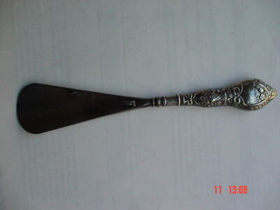 Antique silver(Hallmarked 1912) & steel shoe horn  180 mm long