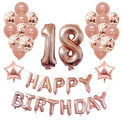 Yoart 18th Birthday Decorations Rose Gold For Women And Girl Party Supplies