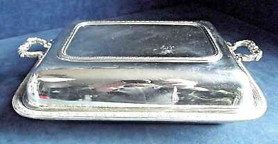 """SUPERB Large 12"""" ~ SILVER Plated ~ SERVING DISH ~ c1925 by Fenton & Russel"""