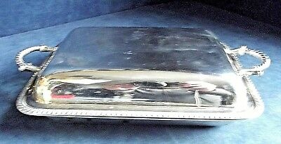 """SUPERB Large 11"""" ~ SILVER Plated ~ SERVING DISH ~ c1925 by Johnson & Co"""