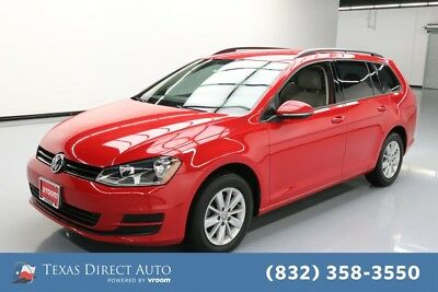 2016 Volkswagen Golf TSI S PZEV 4dr Wagon 6A Texas Direct Auto 2016 TSI S PZEV 4dr Wagon 6A Used Turbo 1.8L I4 16V Automatic