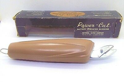 Vintage Power-Cut Battery Operated Scissors National Silver Co Japan Work great!