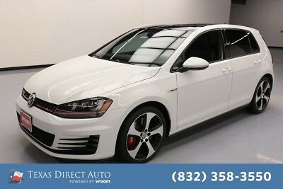 2016 Volkswagen Golf Autobahn 4dr Hatchback 6A w/Performance Package Texas Direct Auto 2016 Autobahn 4dr Hatchback 6A w/Performance Package Used