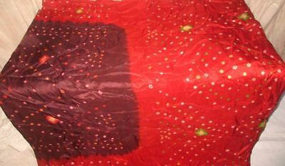 Coffee Red Pure Silk 4 yard Vintage Sari Saree Marriage actress Wedding #9EDXN