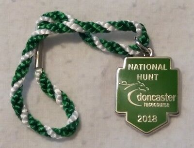 ANNUAL MEMBER'S BADGE ~ RARE ! ~ DONCASTER  ~ 2018 NATIONAL HUNT - Number 1  #1