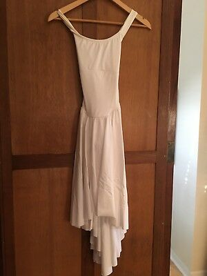 Dance Costume women's Small Adult SA Dress Lyrical contemporary White
