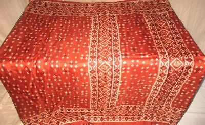 Rust Pure Silk 4 yd Vintage Sari Saree UK Apparel Shop low bid summer NR #9EDY1