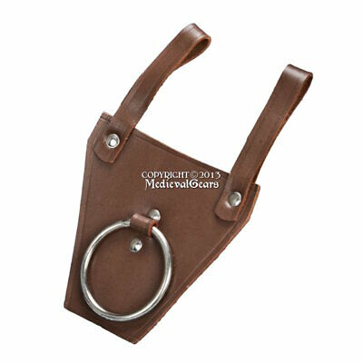 Leather Medieval Axe Hanger Viking Hatchet Belt Holster Tomahawk Holder LARP