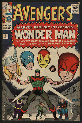AVENGERS #9 OCT 1964 1st APPEARANCE OF WONDERMAN. VERY SOLID