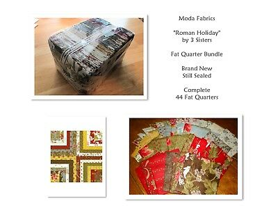 "RARE!  Moda Fabrics ""ROMAN HOLIDAY"" by 3 Sisters -- 44 Fat Quarters -- Complete!"