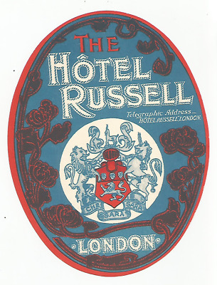 HOTEL RUSSELL luggage DECO label (LONDON)